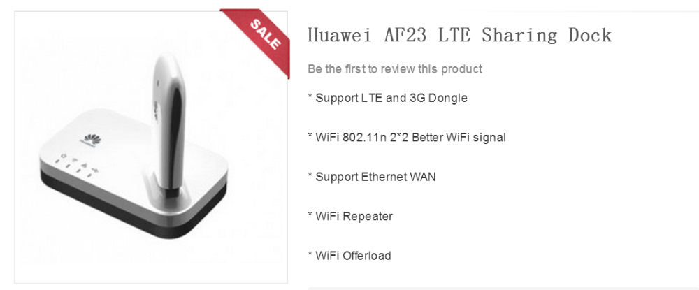 Portable Multifunction Huawei AF23 300M LTE 4G 3G USB Sharing Dock WiFi Wireless Router AP Repeater With WAN/LAN Port Broadband