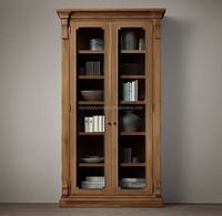 French Antique recycled wooden wine cabinet