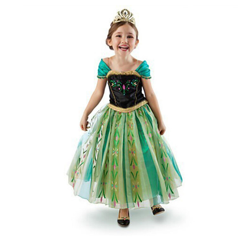 Original single children's clothing printing dress frozen cosplay clothes