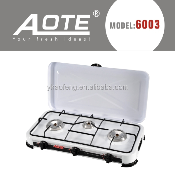 gas stove manufacture portable gas stove small size 3 Burners Euro Style Hausing Gas cooker