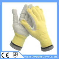 Heat Resistant Cow Leather Coated Aramid Electrical Work Gloves