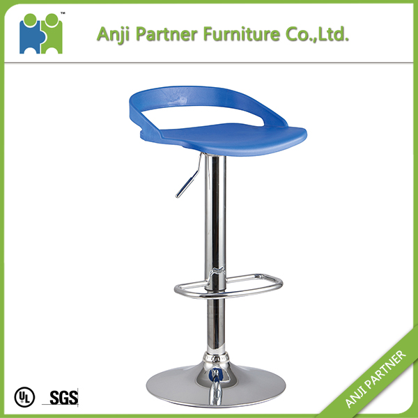 High quatlity elegant modern designer chrome footrest italian bar stool(Alex)