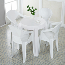White Cheap Portable Round Plastic Table