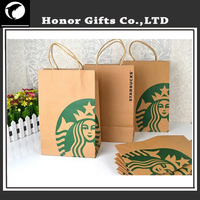 Recyclable Craft Print Brand Shopping Brown Paper Bag