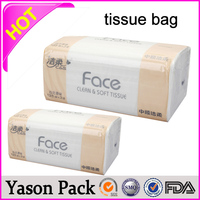 Yason stand up food paper packaging bag with window transparent plastic newspaper bags transparent paper for printing