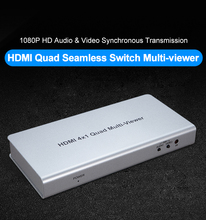 1080P 4x1 hdmi quad screen multiviewer seamless switcher for playing game