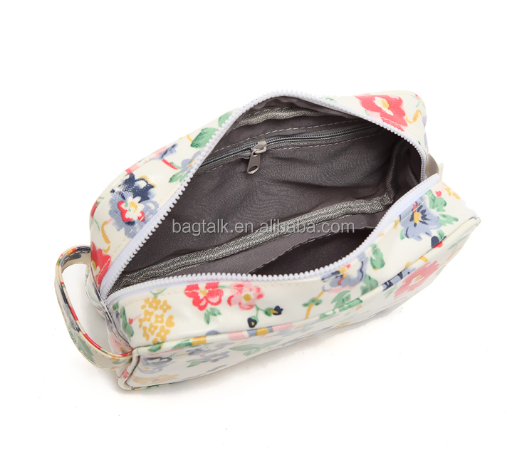 CT901 More Pattern Contact Us Flowers Design Oil Cloth Waterproof Women Cosmetic Bag Fashion Bag For Sale