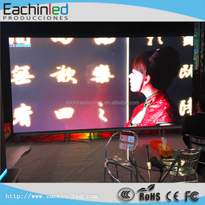 Large outdoor time temperature led video display wall