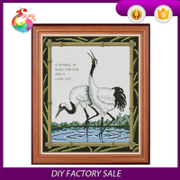 "cross stitch kit, 100%cotton cross stitch embroidery ""The crane"""