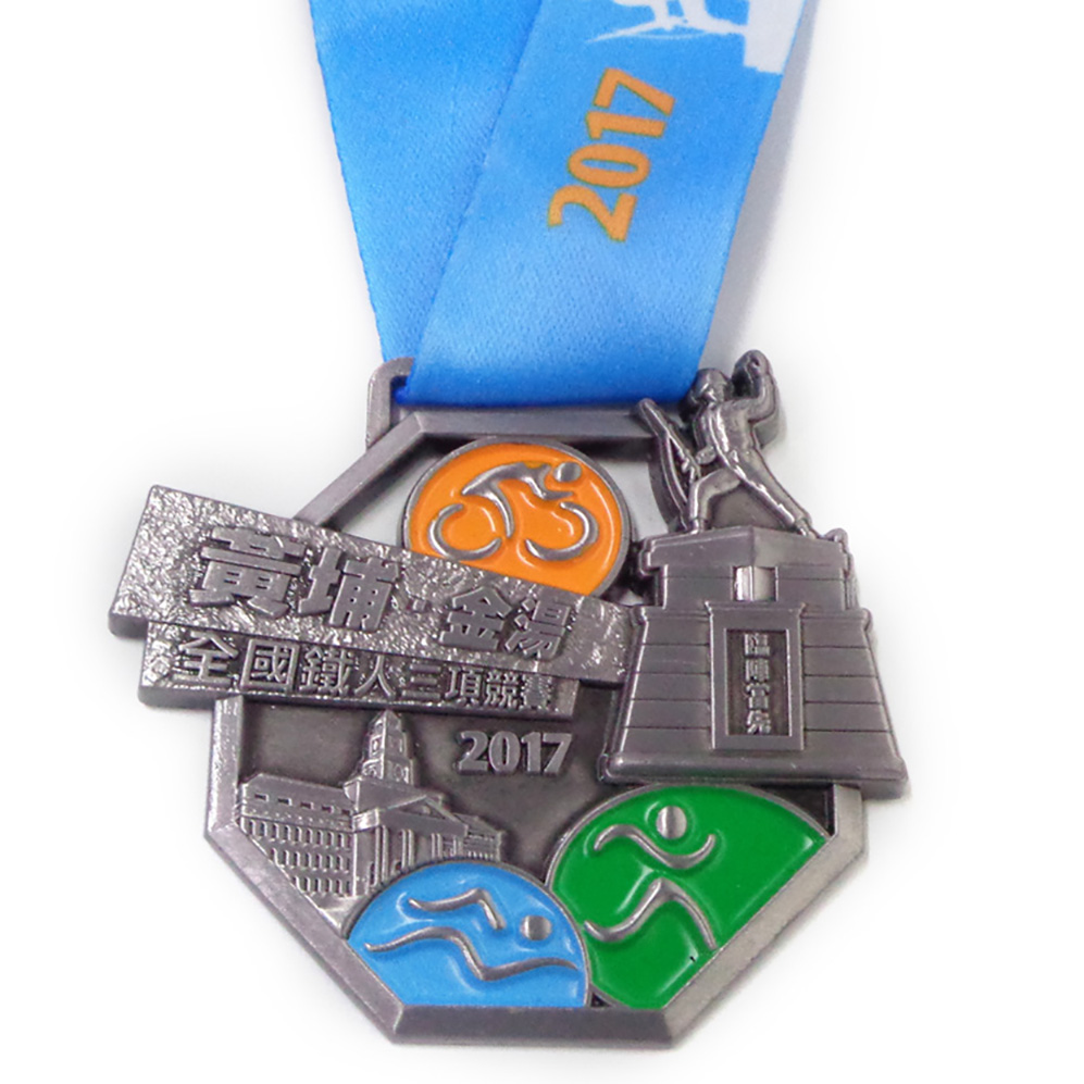 3D Medal Symbolic Dragon Gift Trophies And Medals China Triathlon Medallion