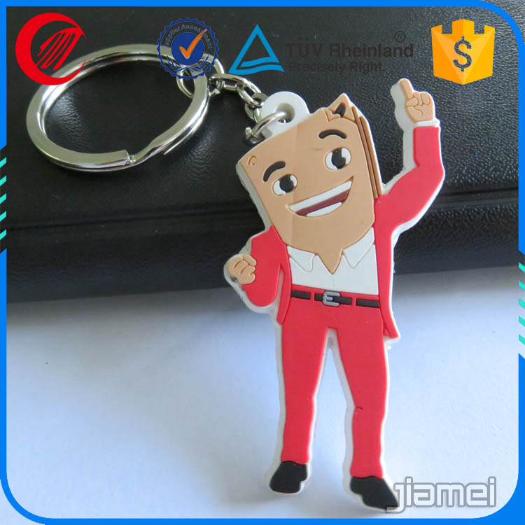 Low price promotional gifts 3d pvc keyring