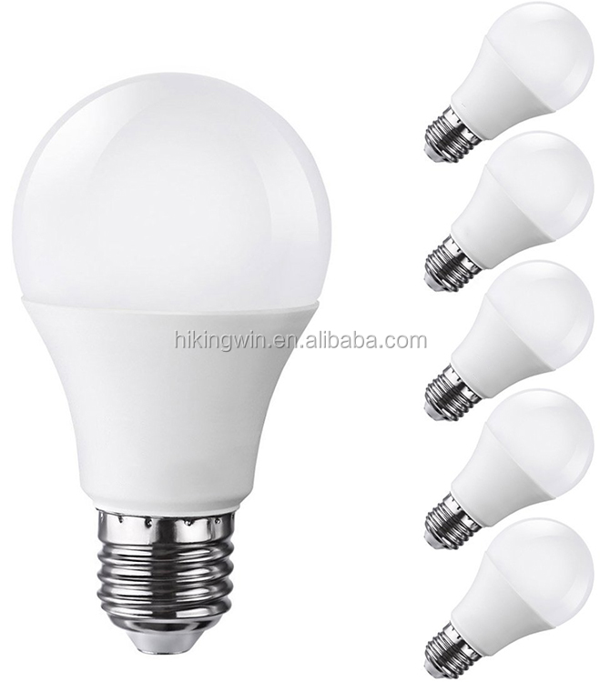 LED Bulb Plastic Lamp 220v 110v cheap 7W LED Bulb, E14 E27 B22 led light& aluminum and plastic led bulb light