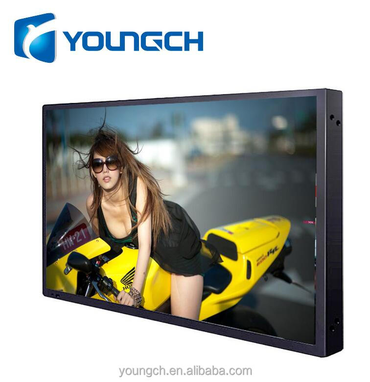 Ultra thin metal back wall mounted clear picture lcd tft 22 inch Multi-Language monitor