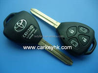 key fob Toyota Camry 4 buttons remote key case Toy43 blank keys with logo with door button
