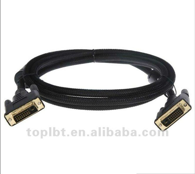 DVI to DVI Male to Male Cable for Computer, TV Set, DVD Players