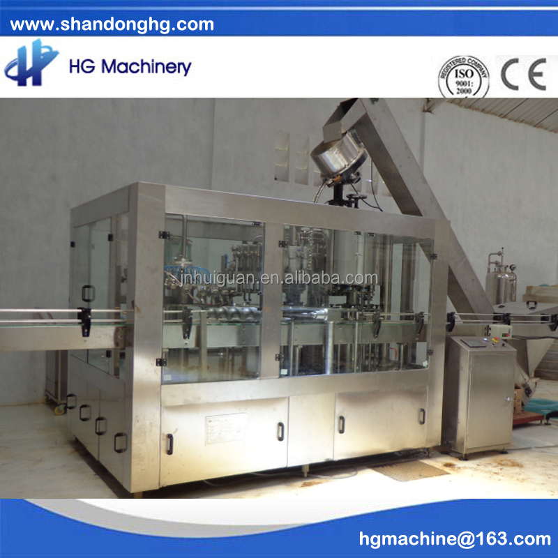 CE standard new condition 24-24-8 Beer rinsing-filling-capping 3 in 1 bottling machine for glass bottles with crown cap