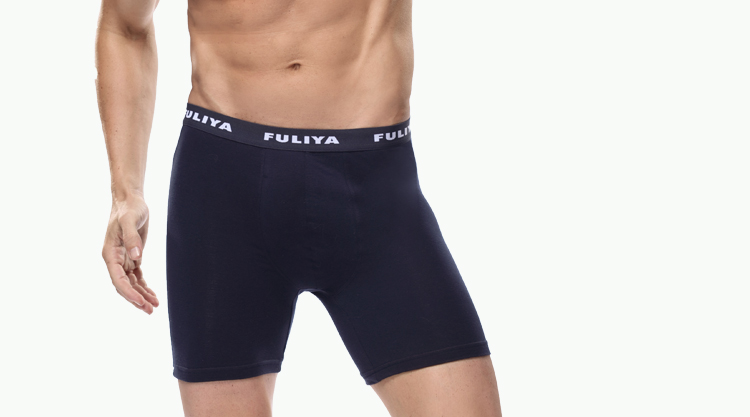 Mens Breathable Bamboo Boxer Briefs with Fly