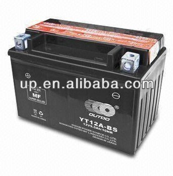Dry-charged Motorcycle MF Battery with 12V/9.5Ah