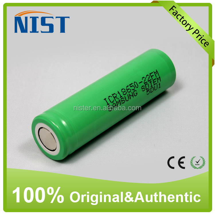 Electronic Cigarette battery 18650 samsung 22f 2200mAh