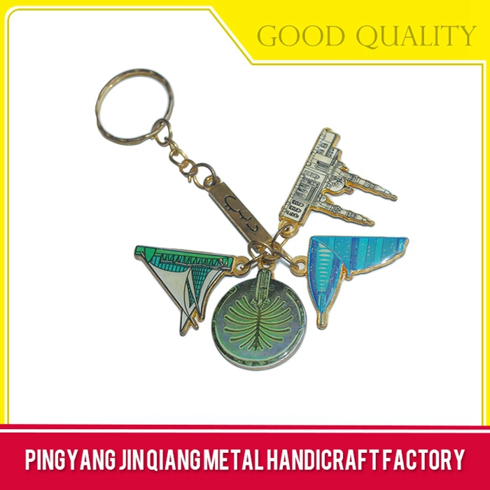 Cheap promotional guitar shaped key chain