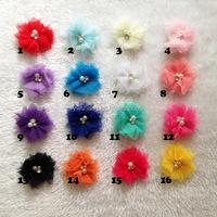 Wholesale Baby Girl Hair Accessory Chiffon flower Child Head Flower No Clip