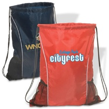 High quality all over Printing custom waterproof nylon drawstring pouch bag