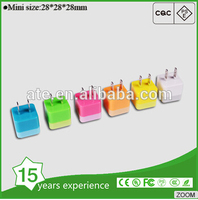 Colorful Wall Charger 5V 1A Travel Charger for mobile phone,ipad, Samsung Galaxy( Chargers Fast and Quickly)
