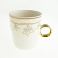 Alibaba Express Ceramic Vicacci Flower Ring Mug Made With Swarovski ElementsV2008A-093NBC-CC (WS1059-130807)
