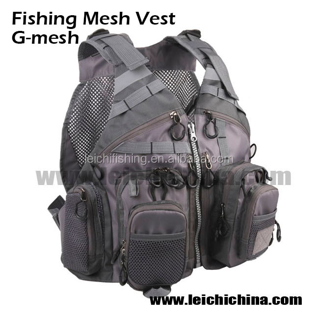 Wholesale waterproof fly fishing mesh vest