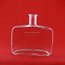 Hot selling vodka glass bottle 1000ml square glass whiskey bottle glass bottle weight for whiskey