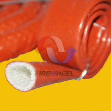 red silicone coated fiberglass sleeve for pipe insulation
