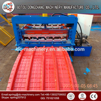 Fully Automatic hydraulic curved roll forming machine for metal roof eave awning