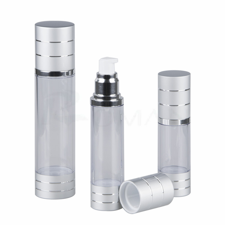 china suppliers 200ml airless spray bottle silver aluminum 15 ml airless pump bottle