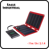 11W Sun Power Panel USB folding solar panel charger for Travel