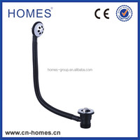 Plastic flexible pipe brass rotate drain for bathtub