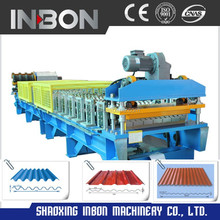 Roof tile sheet rolling Roll Forming Machine, Cut-off for metal roofing and cladding/roof panel /steel tile machine