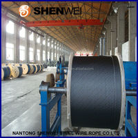 8x19S+hemp core or sisal core steel wire ropes for elevator