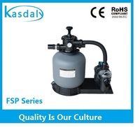Swimming pool sand filter and pump combo