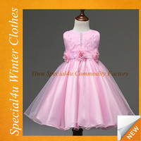 The latest children frocks designs evening children dresses for girls chiffon pink baby frock SA-152