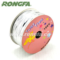 30m dispenser Packing Metallic Wire twist tie for bread bags
