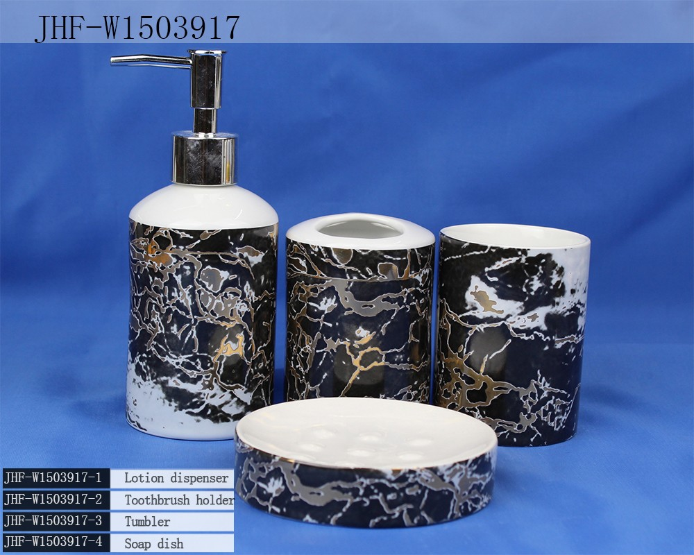 Hot sale complete ceramic bathroom set accessory buy hot for Bathroom sets on sale