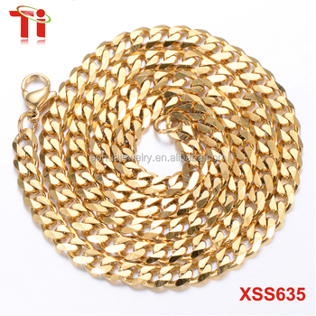 Aohua stainless steel chain Fashion gold necklace designs in 10 grams, new neck mesh chain gold plated necklace set