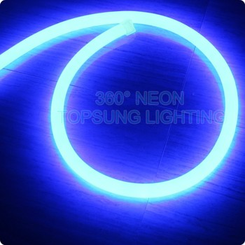 battery powered neon lights 25mm 360 degree round lights
