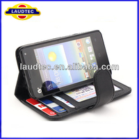 Premium Credit Wallet Leather Case Cover For Huawei Ascend Y300---LAUDTEC