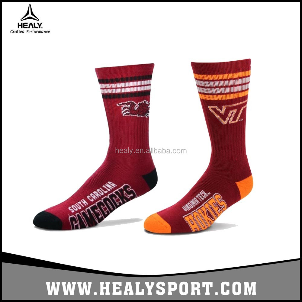 Classic design Custom logo Cotton Crew Men's Sport Basketball/Running Socks