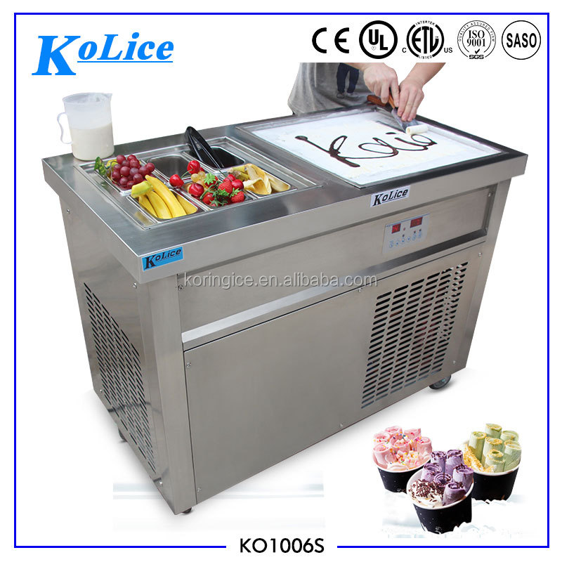 Italian style one square pan fried ice cream machine