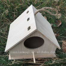 unfinished Pine Wood Bird House crafts bird cage small wooden bird houses