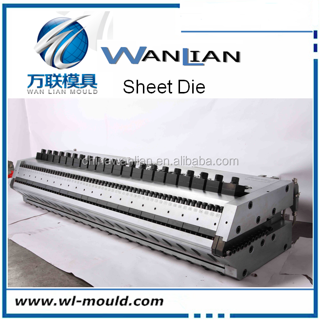 Three co-extruded multi-layer co-extruded sheet die mold rigid and soft PVC sheet die