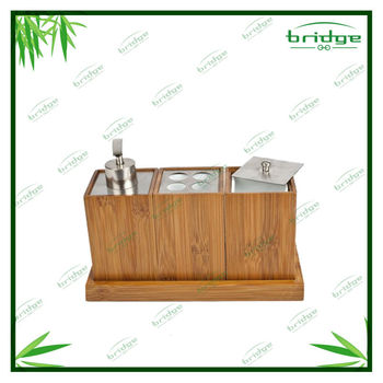 Nature bamboo wooden simply bathroom accessories