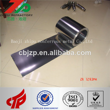 China Best Price Sintered Polished High purity Tungsten Foil